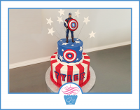 carolina-confections, custom-charlotte-cakes, captain america, captain america toon, super hero cake, super heros, super hero birthday, boy birthday, girl birthday, super hero birthday